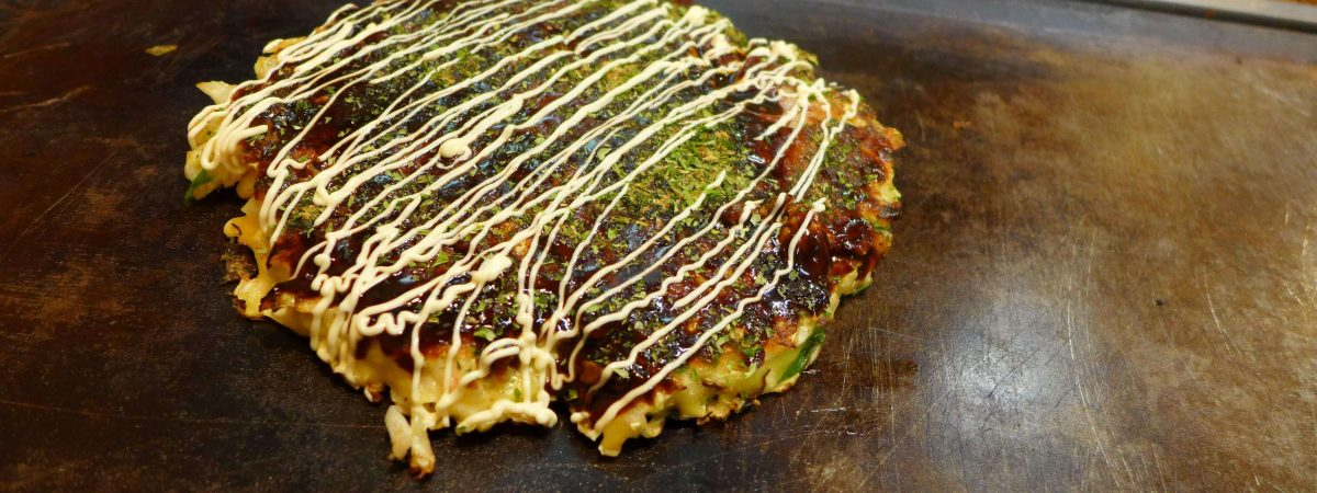Okonomiyaki i Osaka, Japan