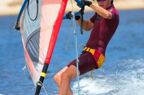 Testa på vindsurfing