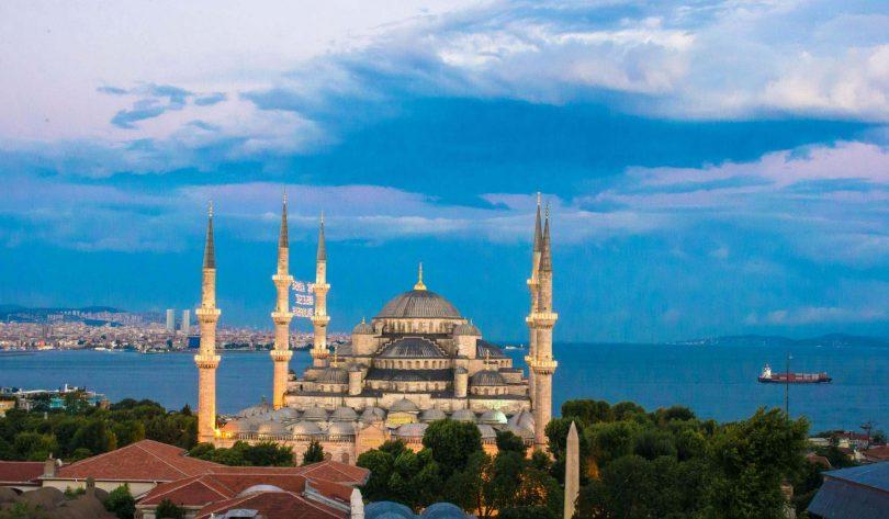 Blå moskén i Turkiet