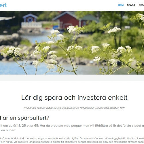 Första versionen av Buffert.se