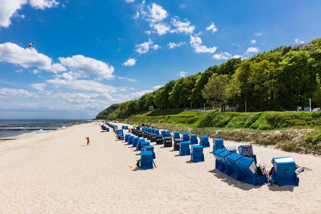 Stranden i Koserow på ön Usedom