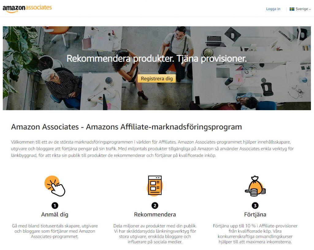 Amazon hemsida