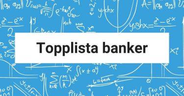 Topplista banker
